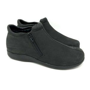 Walking Cradles Ankle Boots Black Leather 8